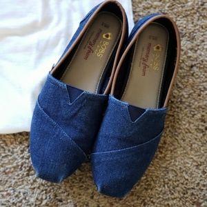 Bobs Memory Foam Slip on Shoes